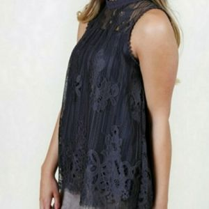 Altar'd State Victorian Lace Halter Tank Top
